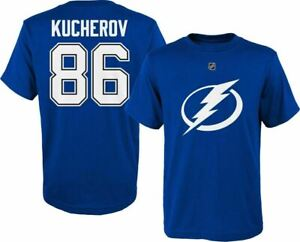 sale retailer 22cc6 c3a17 Details about Tampa Bay Lightning Nikita Kucherov Boy's Youth Player Jersey  T-Shirt