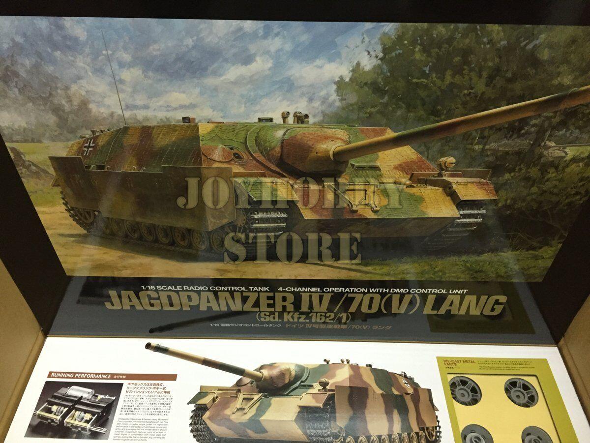 Tamiya 56039  1 16 Geruomo Jagdpanzer IV 70(V) Lang - RC Full Option Tank Kit  scelte con prezzo basso
