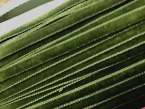 Vintage-Velvet-Trim-1-4-034-Ribbon-Moss-5mm-3yds-Made-in-Switzerland