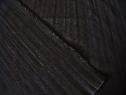 FASHION//CRAFT FABRIC-FREE P/&P WOVEN SHADOW STRIPE-BLACK HEAVY STRETCH COTTON