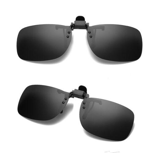 Polarized Lens UV400 Clip-on Driving Glasses Sunglasses Cool Vision Fashion