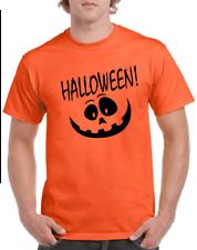 Halloween T-shirt Happy Pumpkin face jack-o-lantern Gildan Cotton