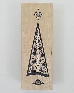 Rubber-Stamp-Retro-Christmas-Tree-Inkadinkado-Holiday-Cards-Winter-Wood-New