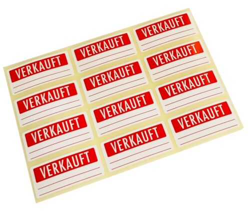 Etiketten Klebrig 30 x 66mm Hellrot VERKAUFT Aufkleber