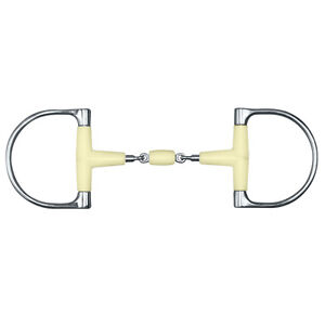 """5 /& 5.5/"""" Happy Mouth King Dee Double Jointed Snaffle Bit w//Roller Sizes"""
