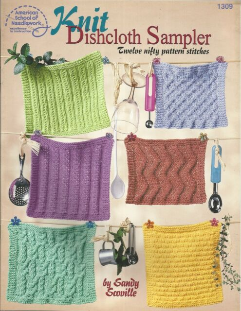 Knit Dishcloth Sampler Sandy Scoville Knitting Dishcloths Patterns