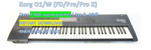 +7.000 Largest Patch Sounds FD//Pro//Pro X - DOWNLOAD! ##New## Korg O1//W 01//W