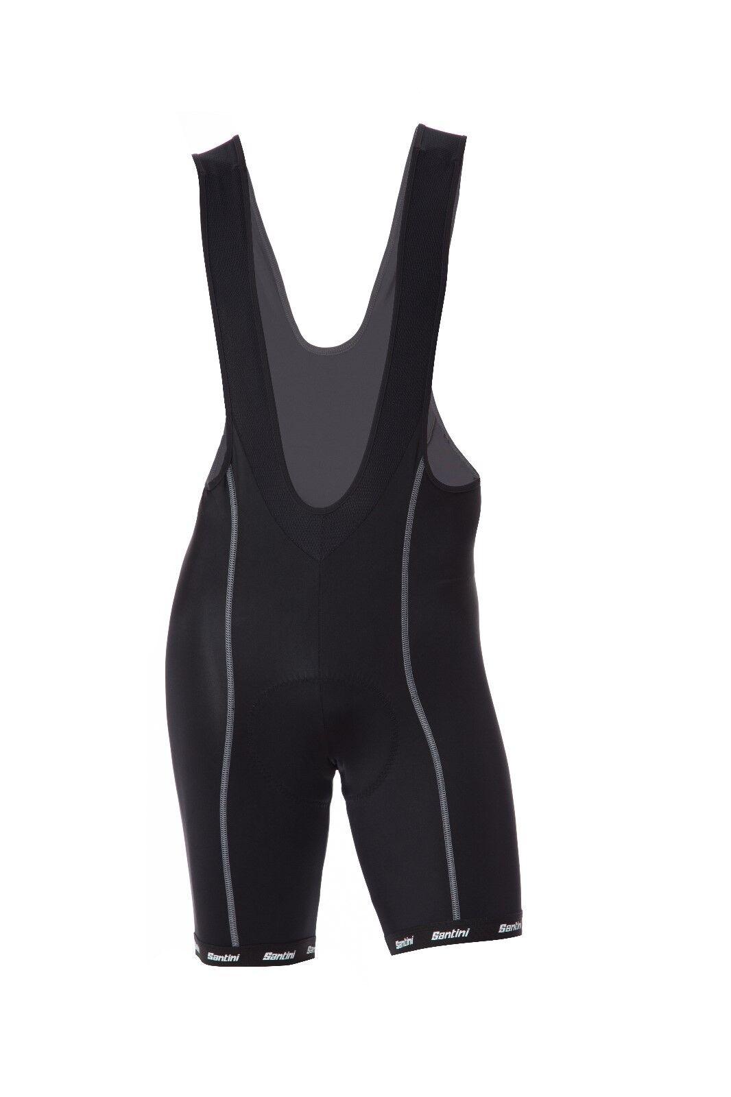 Para  hombres nos Deportivo Ciclismo mono Pantalones cortos (GIT Gamuza) en Negro-Hecho Por Santini  compras en linea