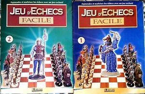 """Lot de 2 magazines """"Jeu d'échecs Facile"""" n°1 et 2 Editions Atlas - Pour Apprendr"""