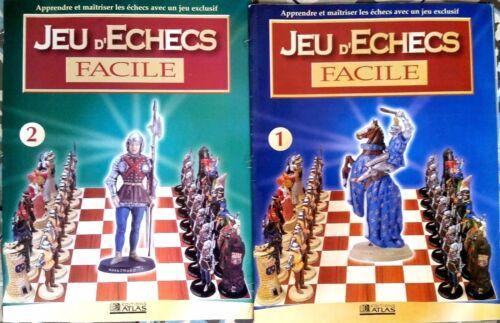 """Pour Apprendr Lot de 2 magazines /""""Jeu d/'échecs Facile/"""" n°1 et 2 Editions Atlas"""