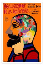 "Cuban movie Poster 4 film""Childhood MEMORY""Colorful art.Recuerdos de la infancia"