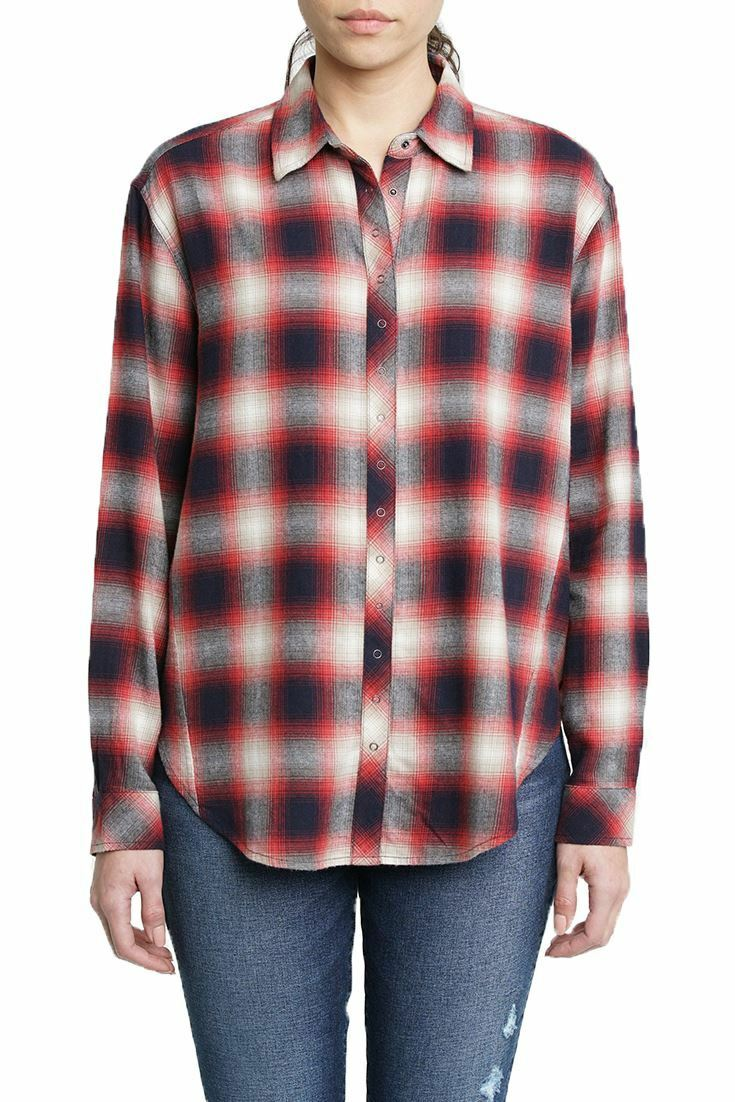 Pistola - Woherren Sienna Long Sleeve Snap Front Plaid Shirt - Twisted