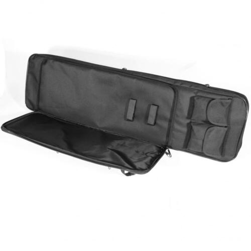 """Protec 39/"""" Deluxe Airsoft Hunting Rifle Carry Case Black and Woodland Camo"""