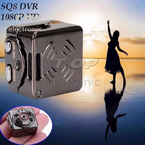 SQ8 HD 1080P Mini Car Sports DVR Camera Hidden Camcorder IR Night Vision