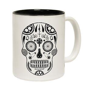 Cycling-Candy-Art-Skull-Novelty-Cyclist-Bike-Rider-MUG-cup-birthday-funny-gift