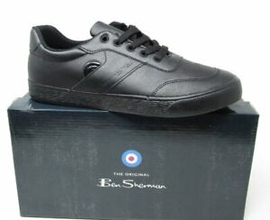 Ben-Sherman-Mens-Trick-Trainers-Smart-Shoes-Brand-New-FREE-POST-Black-Trainer