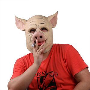 Details about Game h1z1 Battle Royale Halloween Cosplay Mischievous Pig  Latex Mask Helmet Prop