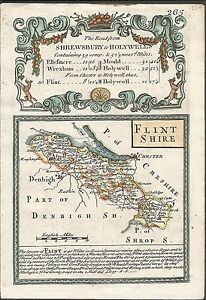 Antique-map-Flintshire-The-Road-from-Shrewsbury-to-Holywell
