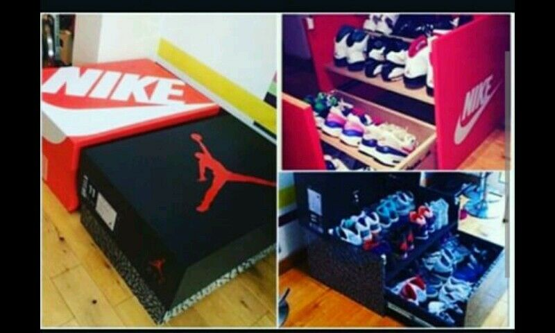 HOW TO BUILD CUSTOM MADE JORDAN NIKE  ETC WOOD DRAWER SHOE STORAGE BOX  The most popular shoes for men and women