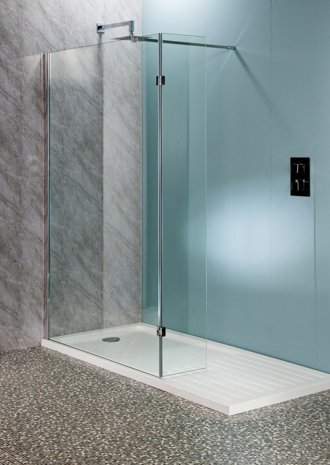 500mm Walk In Shower Enclosure Wet Room Easyclean 10mm Glass Tall ...