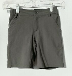 Patagonia Boy's Small 7 8 Sunrise Trail Shorts, Forge Grey, Nylon, Great Cond