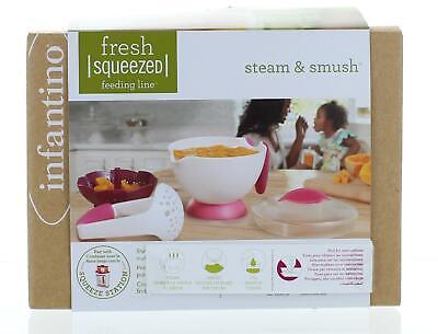Infantino Fraîchement Pressé vapeur /& Smush Baby Food Maker Cuiseur vapeur /& Pilon