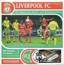 Liverpool 2005-06 FBK Kaunas (Jamie Carragher) Football Stamp Victory Card #503