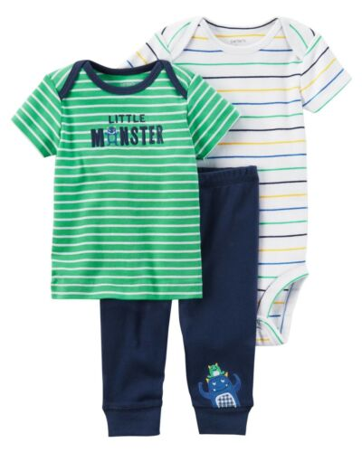 NEW NWT Carter/'s Preemie Premature Baby Boy 3 Piece Set Dinosaur Mr Fix It