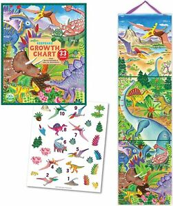 Height-Chart-Dinosaurs-by-Eeboo-With-33-Stickers-Brand-New-Gift-Box