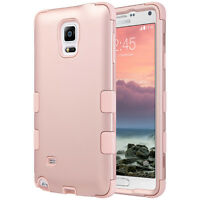 Rose Gold Shockproof Hybrid Rubber Hard Case Cover For Samsung Galaxy Note 4 on sale