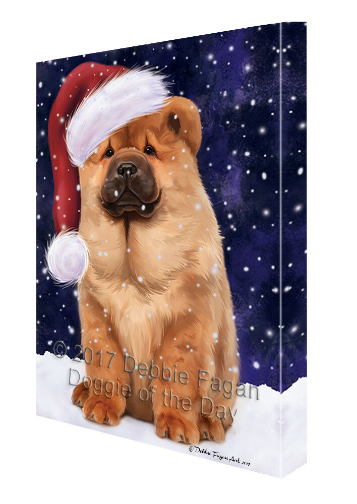 Let it Snow Christmas Holiday Chow Chow Hund Canvas Wand Kunst T29