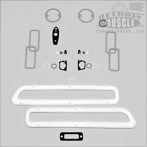 DMT B Body 1969 69 Coronet BASIC Paint Exterior Gasket Set Kit Seals Taillight