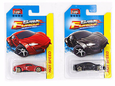 Fast & Furious 1:64 Lykan Hypersport Red and Black