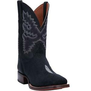Dan-Post-Ray-DP4520-Mens-Black-Leather-Stingray-Exotic-Western-Boots