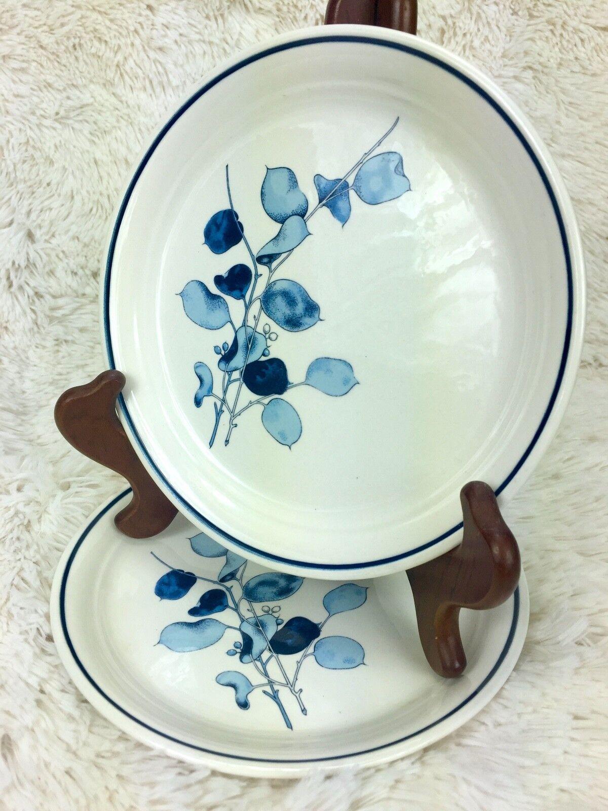 Set of 2 Arklow Irish-Moors 7.5  Salad Plates - bleu Leaf Design - Ireland