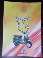CATALOGUE BROCHURE1996 MOTO PIAGGIO VESPA ET4