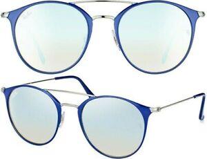 Ray-Ban-Damen-Herren-Sonnenbrillen-RB3546-9010-9U-49mm-blau-silber-rund-10-25