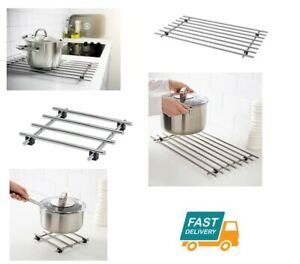 Détails Sur Ikea Lamplig Cuisine En Acier Inoxydable Sous Plat Plan De Travail Cuisine Pan Pot Stand Large Petit Afficher Le Titre D Origine