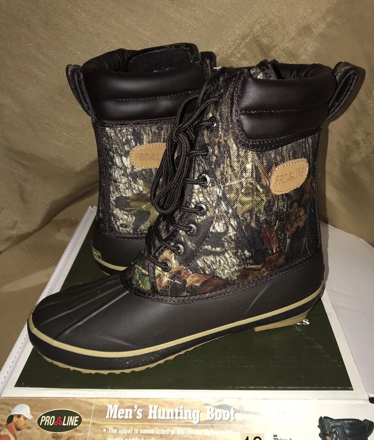 10  Pro-Line Boots WATERPROOF Mens Size  13 Hunting Boots 200g Mossy Oak Camo  online sale
