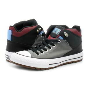 Converse-All-Star-Street-Hi-Mens-Black-Grey-Boots-Trainers-Size-7-11