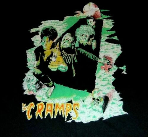 THE CRAMPS T-SHIRT SCREEN STARS VTG 80's USA 50/50
