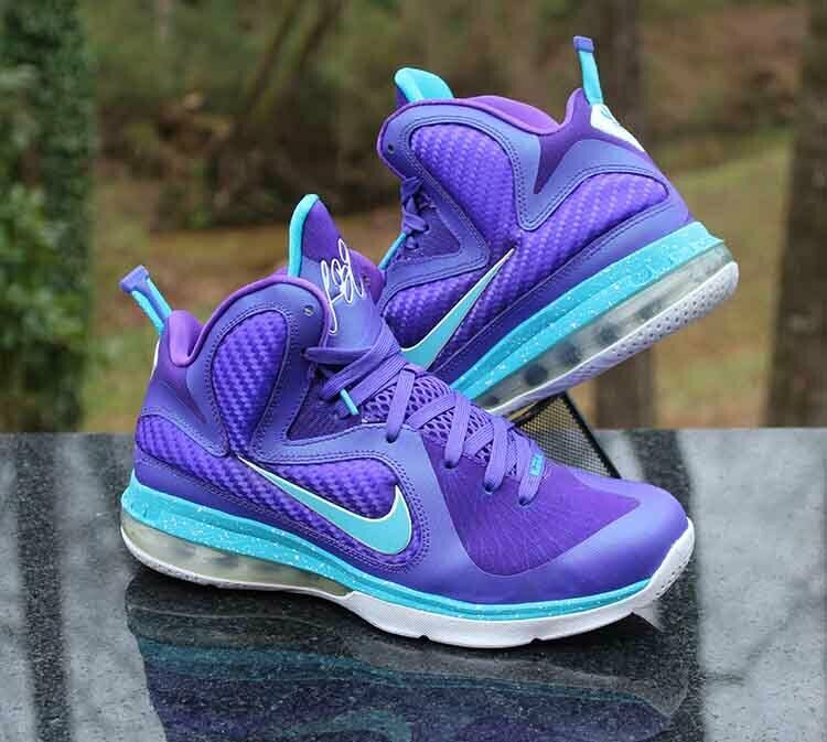 Nike LeBron 9 9 9 GS 'Summit Lake Hornets' 472664-500 Purple Size 7Y ada549
