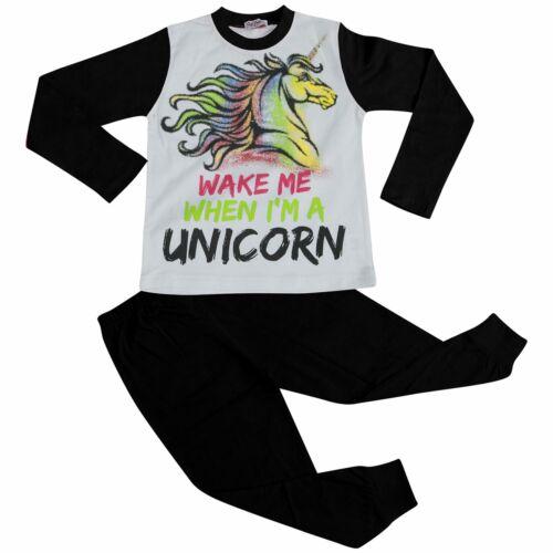 Bambine Pigiama Svegliami quando sono un unicorno Lounge Wear Nightwear Pjs 5-13 ANNO