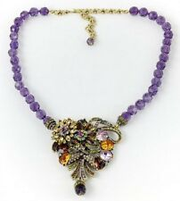 """NEW Heidi Daus WHIMSICAL FLORAL Crystal 19"""" Necklace EASTER SPRING FLOWER"""