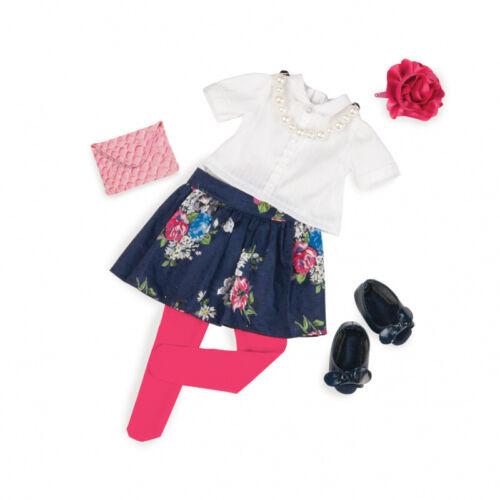 Our generation-Outfit Deluxe-fiori gonna con Camicia e Catena Perle