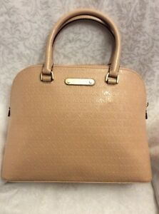 783e27020e0249 Image is loading MICHAEL-KORS-Cindy-Satchel-OYSTER-Large-Dome-PURSE-