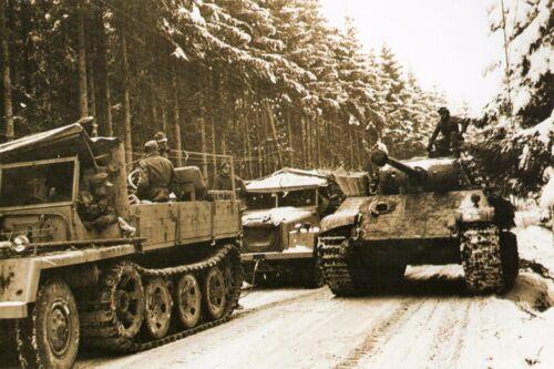 WW2 Offensive allemande dans les Ardennes belges en décembre 1944