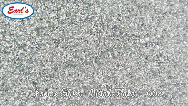 "50g Chrome Silver metal flake paint Standard size 0.008"" metalflake glitter"