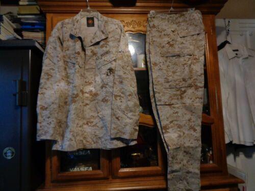 USMC MARPAT DESERT TAN Combat SHIRT PANT SET MCCUU  LARGE LONG ISSUED