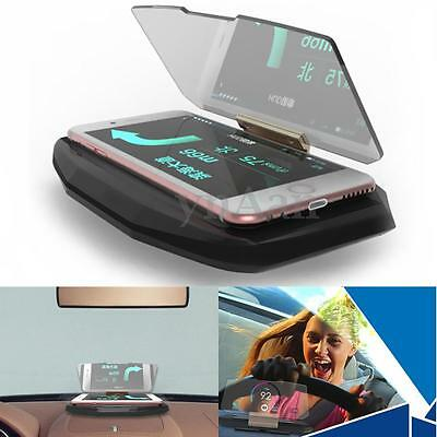 Universal Car Mobile Phone GPS Navigation Holder HUD Head Up Display Projection